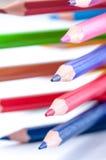 Matite di colore Fine in su Fotografie Stock Libere da Diritti