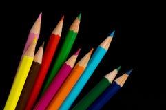 Matite di colore isolate Immagini Stock