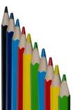 Matite di colore isolate su priorità bassa bianca Fine in su Fotografia Stock