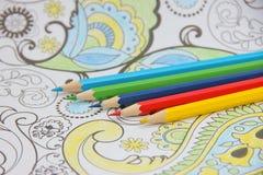 Matite ed ornamento colorati Fotografia Stock Libera da Diritti