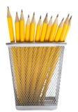 Matite nei supporti della matita Fotografie Stock Libere da Diritti