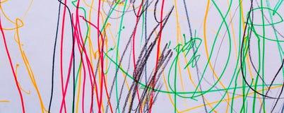 Matite pastelli astratte Fotografia Stock Libera da Diritti
