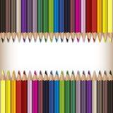 Matite realistiche di colore messe Immagini Stock