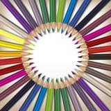 Matite realistiche di colore messe Immagini Stock Libere da Diritti