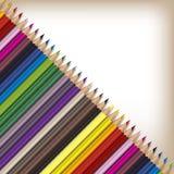 Matite realistiche di colore messe Immagine Stock Libera da Diritti