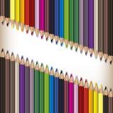Matite realistiche di colore messe Fotografia Stock Libera da Diritti