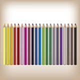 Matite realistiche di colore messe Immagine Stock