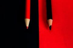 Matite sul colorato su Fotografia Stock Libera da Diritti
