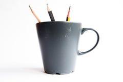 Matite in una tazza Fotografia Stock