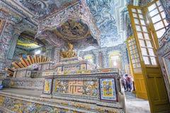 Matiz, Vietname o 14 de março:: dentro do túmulo de Kinh Dinh o 14 de março, 2 Foto de Stock Royalty Free