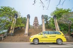 Matiz, Vietname o 14 de março:: pagode de 7 histórias no pagode de Thien MU em março Foto de Stock Royalty Free