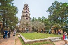 Matiz, Vietname o 14 de março:: pagode de 7 histórias no pagode de Thien MU em março Imagens de Stock Royalty Free
