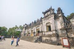 Matiz, Vietname o 14 de março:: Túmulo de Kinh Dinh o 14 de março de 2015 Vietna Fotografia de Stock