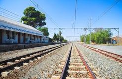 Matjiesfontein pociągu ślada Zdjęcia Stock