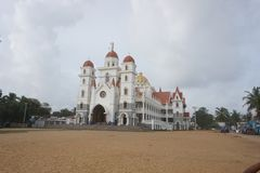 Matka boga kościół, Vettukad fotografia royalty free