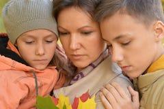 Matka, córka i syn, zdjęcia royalty free