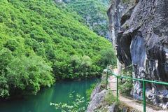 Matka canyon natural park Stock Photo