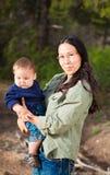 Matka & chłopiec Zdjęcia Stock