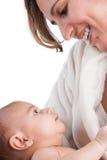 Macierzysty mienia dziecko z miłością Obraz Royalty Free