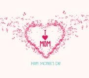 Matka dnia elementsand muzyczny kartka z pozdrowieniami Obraz Royalty Free