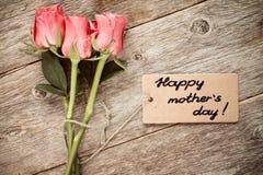 Matka dnia karta z różami obraz royalty free