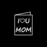 Matka dnia kartka z pozdrowieniami ikona Zdjęcie Stock
