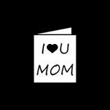 Matka dnia kartka z pozdrowieniami ikona Zdjęcia Stock