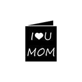 Matka dnia kartka z pozdrowieniami ikona Obraz Royalty Free