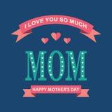 Matka dnia kartka z pozdrowieniami wektorowy wakacyjny wizerunek Obraz Stock