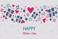 Matka dnia kartka z pozdrowieniami wektorowy wakacyjny wizerunek Zdjęcie Royalty Free