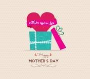 Matka dnia kartka z pozdrowieniami z prezentem Fotografia Royalty Free