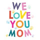 Matka dnia kartka z pozdrowieniami z ręka druku wektorem Fotografia Stock