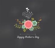 Matka dnia kwiecisty kartka z pozdrowieniami Obraz Royalty Free