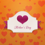 Matka dnia powitania sztandar z dużym sercem Zdjęcia Royalty Free