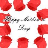 Matka dnia róże Obrazy Royalty Free