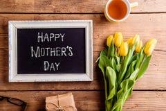 Matka dnia skład, obrazek rama z kreda znakiem Zdjęcia Royalty Free