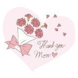 Matka dzień, bukiet goździki Obraz Royalty Free