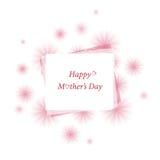 Matka dzień, kwiecista wiadomości karta Zdjęcia Royalty Free
