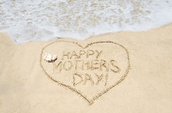 Matka dzień na plażowym tle Zdjęcie Stock