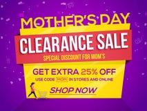 Matka dzień, Poremanentowej sprzedaży plakat, sztandar lub ulotka, Zdjęcia Stock