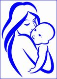 matka dziecka royalty ilustracja