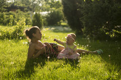 Matka i córka III Zdjęcia Stock