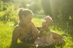 Matka i córka Ja Zdjęcia Stock