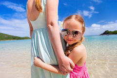 Matka i córka na wakacje Fotografia Stock