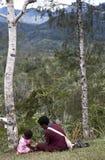 Matka i córka w PNG Zdjęcie Stock
