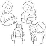 Matka i dzieci ilustracji