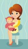 Matka i dziecko ilustracji