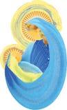 Matka i dziecko, błogosławiony maryja dziewica z dziecka Jesus świętym famil Fotografia Stock