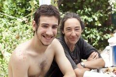 Matka i syn Obrazy Royalty Free