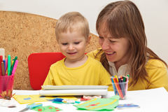 Rodzinny uczenie Obrazy Stock